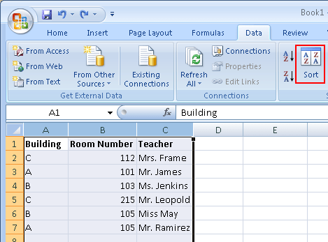 How to sort an excel spreadsheet while keeping the rows intact the sort button will bring up a window where you can configure things with more details since my data has the headers of building room number ibookread PDF