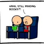 Cyanide and Happiness boast the Kindle over books