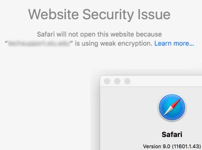 servicedeskplus safari issue