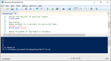 Scripting basics examples in PowerShell