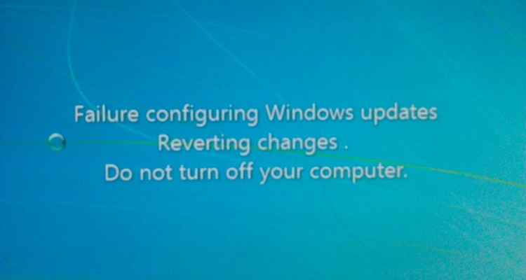 Escaping the 'failure configuring updates. Reverting...' loop on ...