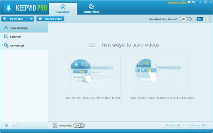 KeepVid Pro dashboard
