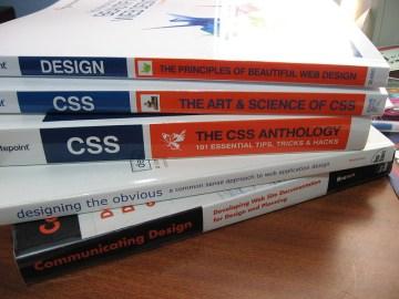 web design books stacked