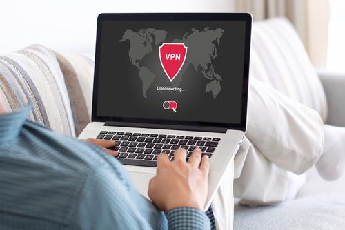 Laptop connected via VPN