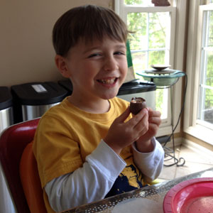 C & His Cadbury Egg