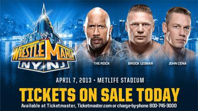 WrestleMania 29 Tickets On Sale