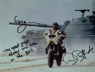 MegaForce Picture Autographed By Barry Bostwick