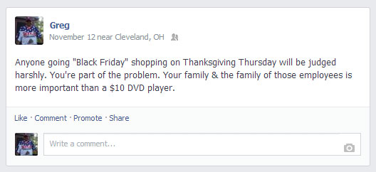 Black Friday Facebook Post