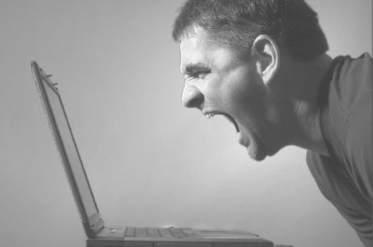 Guy Screaming At Computer