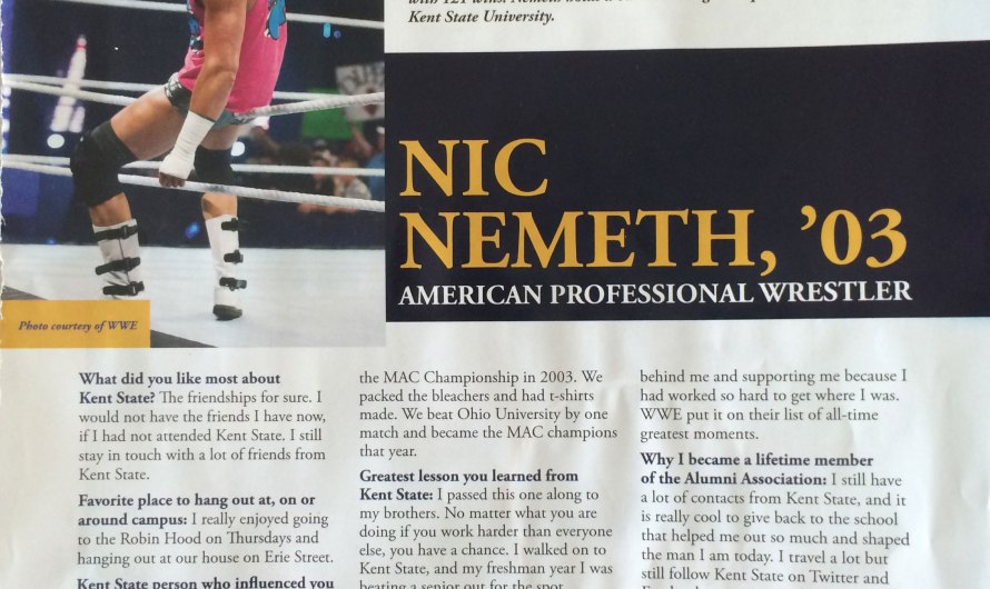 Dolph Ziggler – Kent State University Alumni Profile