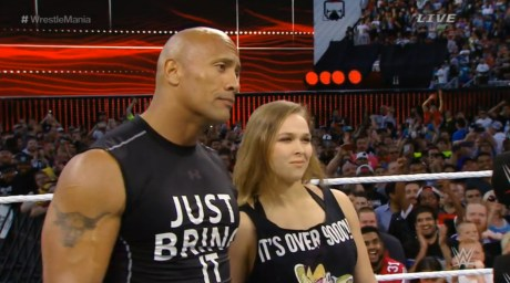 WrestleMania 31 - Rock & Rousey