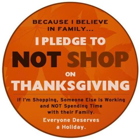 No Shop On Thanksgiving