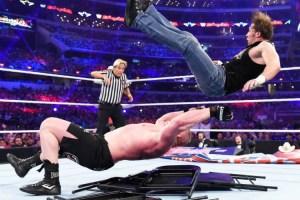WrestleMania 32 - Lesnar vs Ambrose