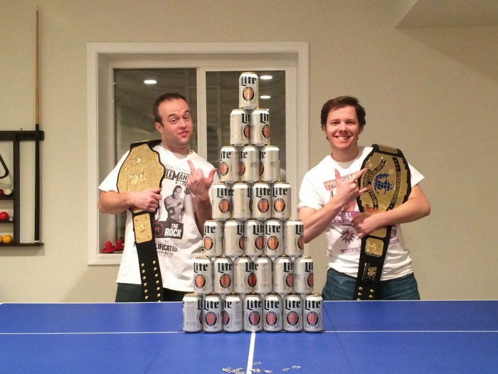 WrestleMania 32 Beeramid - Mark & Pip
