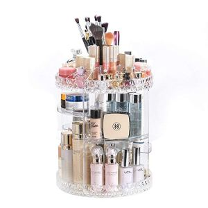 Organize Makeup efficiently with this rotating orgranizer.