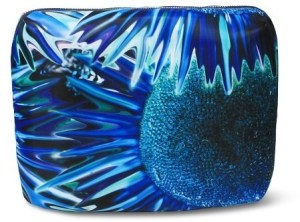 Sonia Kashuk Cosmetic Bag Beauty Organizer Blue Floral