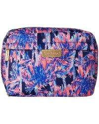 Lilly Pulitzer Navy Palms Up Cosmetics Case
