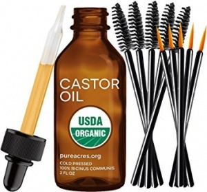 Pure Castor Oil for Eyelashes, Eyebrows, Hair Growth, Skin and Face