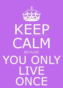 YOLO! oftewel You Only Live Once