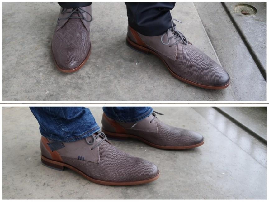 Walking on my blue (and grey) leather shoes - schoenen voor de man