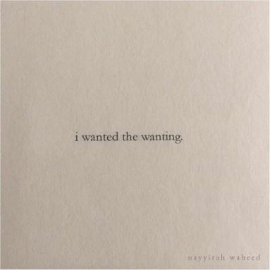 nayyirah waheed - wanting
