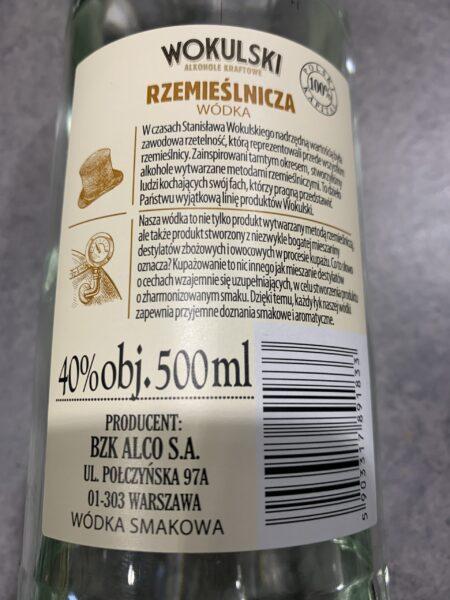 Etykieta Wokulski Rzemieślnicza