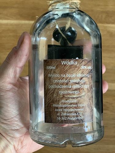 Wódka Czysta Sudecka, tylna etykieta