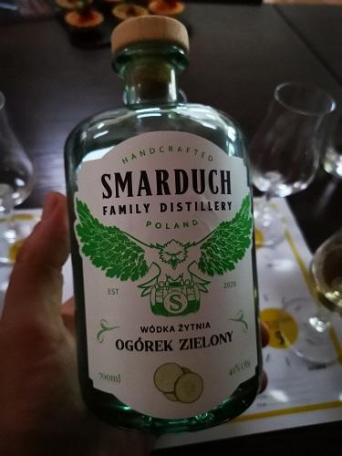 Wódka żytnia ogórek zielony Smarduch Distillery, fot. Dominik Stotko