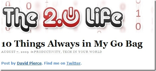 The 2.0 Life - top tech sites