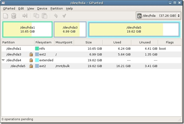 GParted Partition Editor