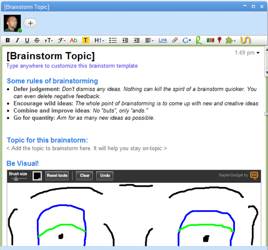 Google Wave Brainstorm Template | 40Tech