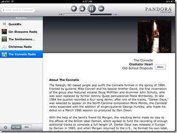 Pandora on the iPad