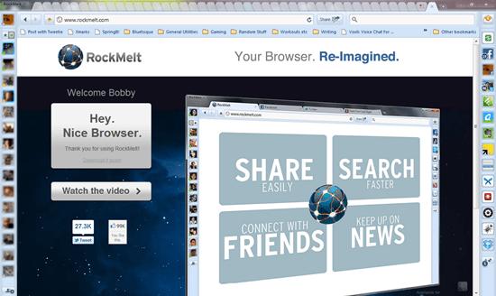 Rockmelt Chrome-Based Social Browser | 40Tech