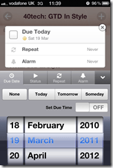 GTD in Awesome Note To Do Alarm | 40Tech