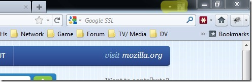 Firefox Tab Group buttons