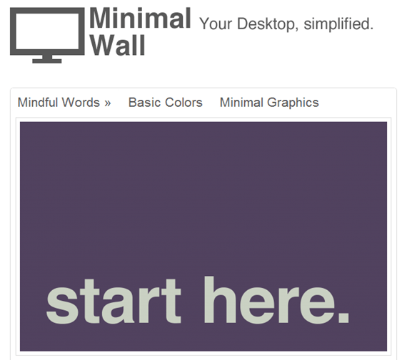 Minimal Wall | Simplify Your Desktop