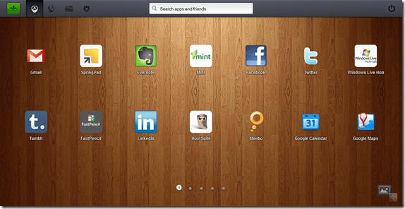 Jolicloud Web App Dashboard, App Desktop in Firefox | 40Tech