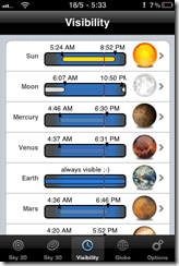 Planet rise, sunrise, visibility of planets with the naked eye on iPhone, iPad | 40Tech