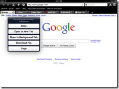 Atomic Web Browser Background Tabs