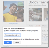 Google+ Setting Who Can See the Send Email Button | 40Tech