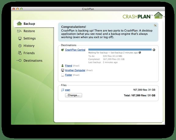 CrashPlan UI