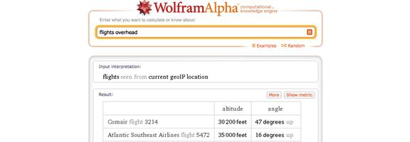 Wolfram alpha fights overhead