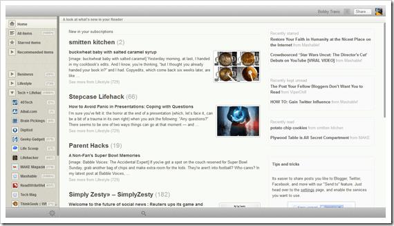 Reeder for Chrome Screenshot   40Tech