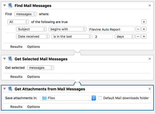 Automator Mail Attachmentn Workflow