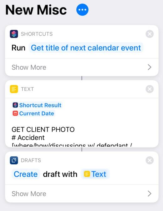 New Misc shortcut screenshot