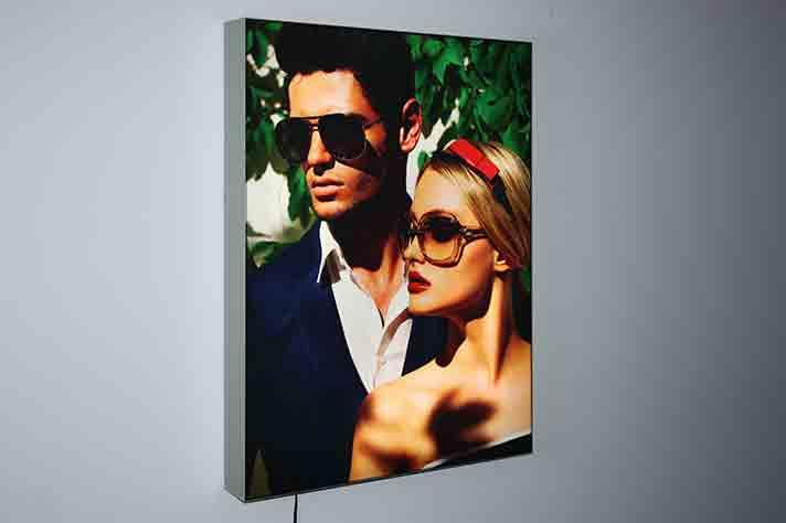 Frameless Fabric LED Light Box