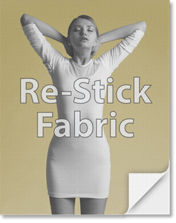 Re-Stick Fabric Poster
