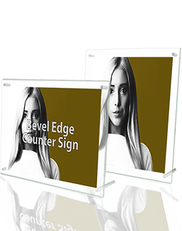 Bevel Edge Counter Sign