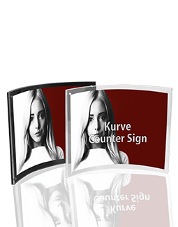 Kurved Counter Sign