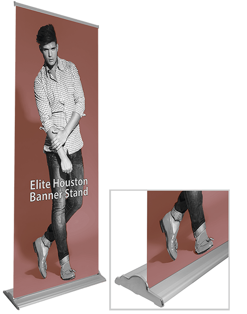 Elite Houston Banner Stand Base with Printed Graphic